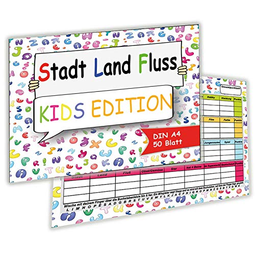 Stadt Land Fluss Kids Kinder Junior...