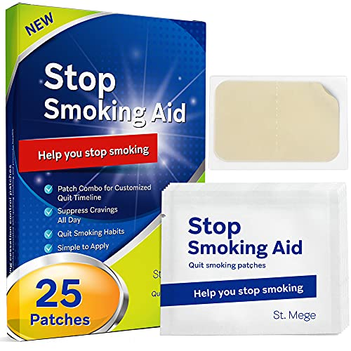 Smoking Aid Stop Smoking Patch Step 1 [25 Patches], Easy and Effective Anti-Smoking Stickers - Best Product to Quit Smoking