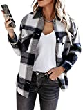 Anaike Camisa de manga larga con botones y bolsillos para mujer, Negro, M