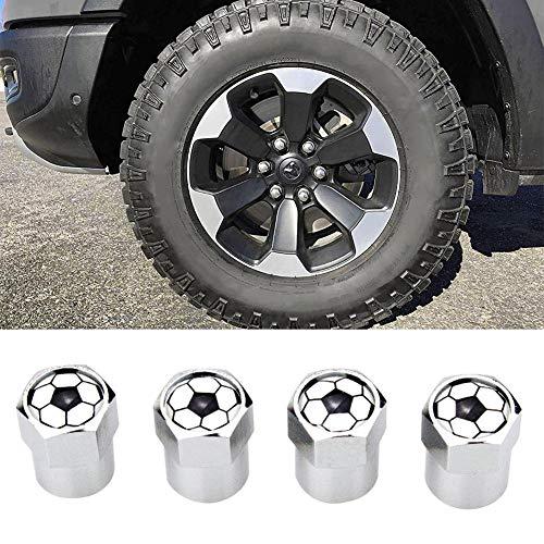 knowledgi - Tapones de válvula de Aluminio para neumáticos de Coche, Antipolvo, 4 Unidades