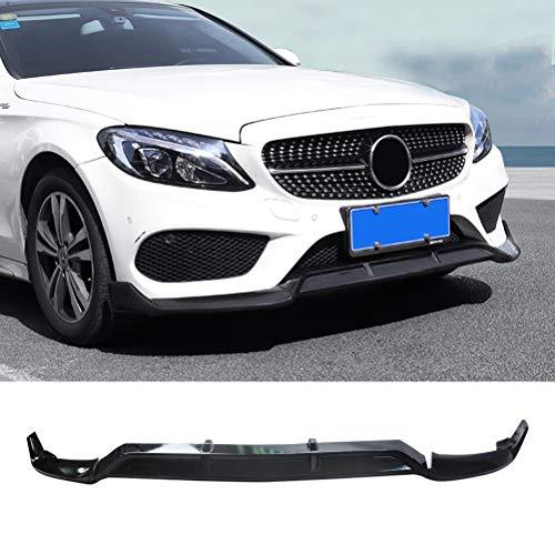 NINTE Front Lip for 2015-2018 W205 Benz C-Class Sport Models - ABS Carbon Fiber Coating B Style Front Bumper Spoiler - 3pcs