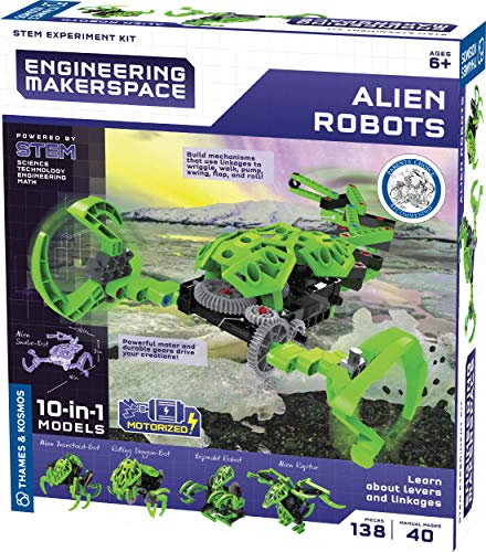 Thames & Kosmos Engineering Makerspace Alien Robots Science Experiment Kit