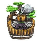 LIWEWO Decoración de acuarios Resina de rocalla Fuente de Agua de la decoración de la Sala de Estar Cubierta de Agua Bonsai humidificador Adornos creativos