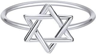 Star of David Jewish Magen Hebrew Shield 14k Gold Over Sterling Silver Star Symbol Ring