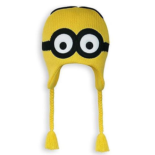 0b1293074e8 Despicable Me 2 Dave Minion Knit Peruvian Beanie (Yellow)