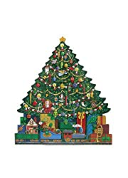 Keepsake Wooden Christmas Tree Advent Calendar