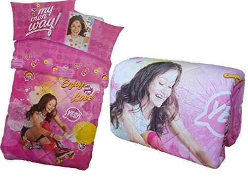 Caleffi Disney Edredón de invierno impresión digital Soy Luna Individual, 1 plaza (038 rosa, individual, 1 plaza)