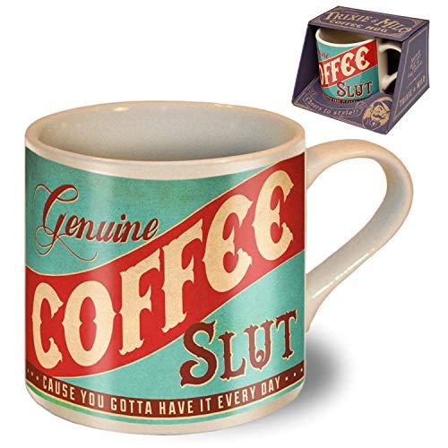 Genuine Coffee Slut - Coffee Mugs Funny Coffee Mug - Funny Mug - Ceramic Coffee Mug - Ceramic Mug - Coffee Gifts - Inappropriate Mugs - Fun Mugs - Offensive Coffee Mug 12 Oz - Trixie and Milo