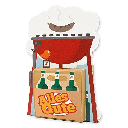 itenga Geldgeschenk oder Gastgeschenk Verpackung BBQ Kugelgrill aus Karton 15x10cm