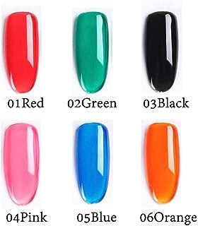 Jelly NeonGel NailPolish Set, Rainbow Translucent Glass Candy Colours,Varnish Nail Art Manicure Home Salon Kit,Soak Off UV Led,for Spring Summer Season 8ML