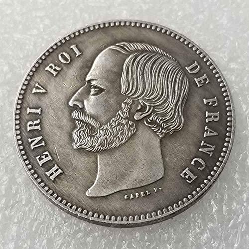YunBest - Monedas de Plata de la Mejor Francia – Moneda Conmemorativa Francesa – 1871 Francia Old Coin Collecting-Silver Dollar Old Morgan Dollar – Plata chapada en BestShop