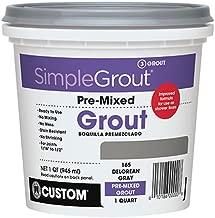 Custom PMG165QT 1-Quart Simple Premium Grout, Delorean Gray (Pack May Vary)