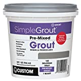 Custom PMG165QT 1-Quart Simple Premium Grout, Delorean Gray (Pack May Vary)