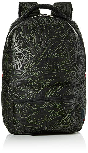 Wenger 606466 Colleague 16' Laptop Backpack, Padded Laptop Compartment with iPad/Tablet/eReader Pocket in Black Fern Print {22 litres}