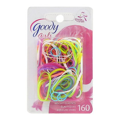 Goody Girls Ouchless Polybands Latex Elastics Assorted Colors 160 Count Item #32086