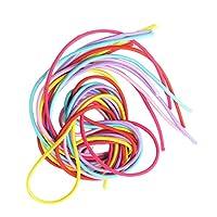 Harilla 髪ポニーのための6個のマルチカラーブレードストランド編み糸