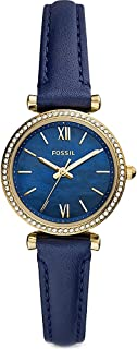 Fossil Damen Analog Quarz Uhr mit Leder Armband ES5017