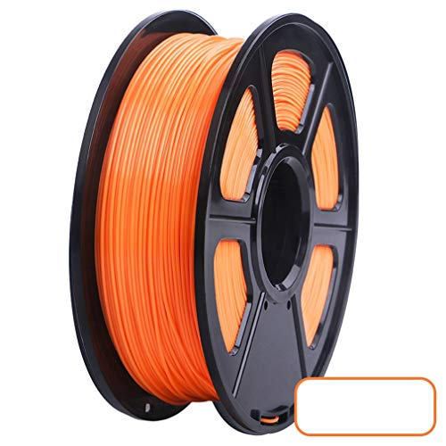 1,75 mm PLA-Filament 3D-Drucker Filamentdruckmaterial Verbrauchsmaterialrolle (Orange)