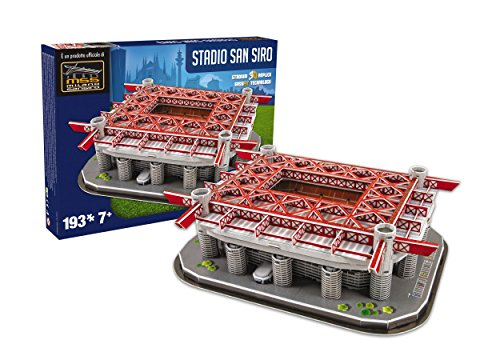 NANOSTAND San Siro Inter De Milan Puzzle - Red/Grey, Size One