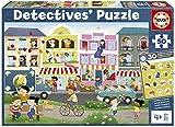 Educa Detectives Ciudad. Puzzle Infantil de 50 Piezas. Móntalo y Busca los Objetos escondidos. +4 años. Ref. 18894