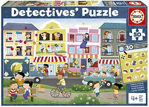 Detectives Ciudad. Puzzle Infantil de 50 Piezas. Móntalo y Busca los Objetos escondidos. +4 años. Ref. 18894