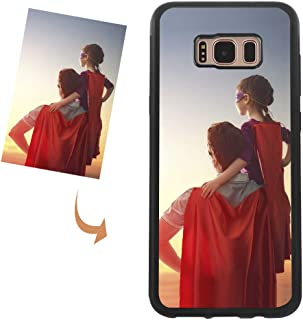 Customized Case for Samsung Galaxy S8 S9 S10 Plus Note 8 Note 9, Create Your Own Photo Custom Case Cover Soft Slim TPU Silicone Shock Absorbing Protective Bumper Case Personalized Gift for Him Her