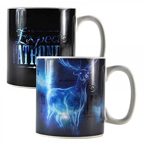 Harry Potter Thermoeffekt-Tasse XL Patronus - weiß, Bedruckt, aus Keramik, Fassungsvermögen ca. 400 ml.