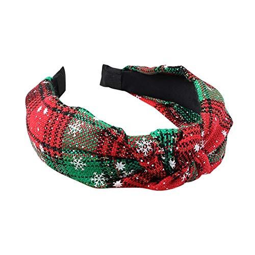 Kerstmuts Meisje kerst hoofdband haarbanden haaraccessoires dames kerst hoofdband decoratie knoop hoofdband geschenk Delicaat en zacht (Color : Red green)