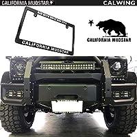 【カリフォルニアマッドスター/CALIFORNIA MUDSTAR】ナンバーフレーム CALIFORNIAMUDSTAR ブラック 1PC USDM LA/ロサンゼルス CALIFORNIA/カリフォルニア アメリカ 日本車サイズ