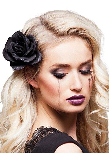 Rose de Halloween gothique noire cheveux Clip