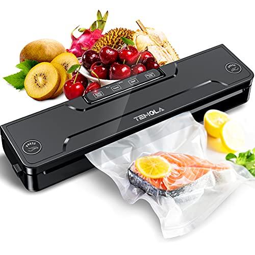 Vakuumiergerät, Vakuumierer für Lebensmittel, 5 in 1 Vakumierergerät hält Lebensmittel 8X frisch, Folienschweißgerät 30cm Schweißnaht & stabile Schweißnaht (inkl 20pcs Vakuumierbeutel BPA frei)