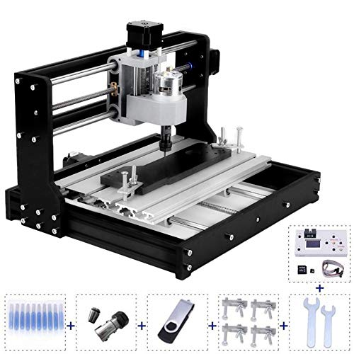 Upgrade Version CNC 3018 Pro DIY Mini CNC Router Machine Kit 3 Axis Milling Cutter Machine Wood Router Engraver with Offline Controller