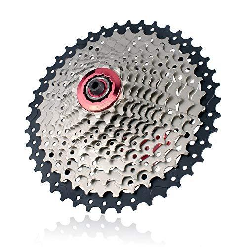 ZhengELE MTB Bike Montaña 11s 11s 22s Casete 11-42T Rueda Libre Shimano Compatible for el M7000 M8000 M9000 XT SLX XTR Piezas de Bicicletas (Color : 11s 42T)