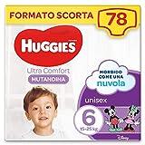 Huggies Ultra Comfort Pannolino Mutandina, Taglia 6/15-25 Kg, Confezione da 78 Pannolini