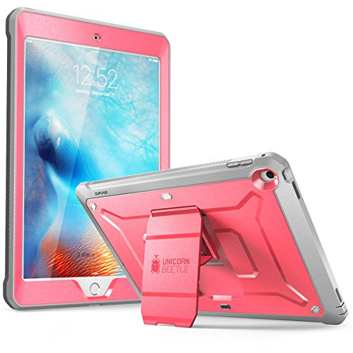 SUPCASE Unicorn Beetle Pro Series Case Designed for iPad 9.7 2018 / 2017, with Built-In Screen Protector & Dual Layer Full Body Rugged Protective Case for iPad 9.7 5th / 6th Generation (Pink)