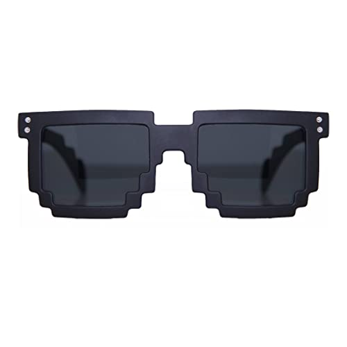 7ac280496e MJ Eyewear 8-bit Rubber Coated Black Pixelated Sunglasses