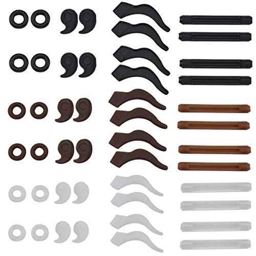 Jinlaili Brillen Antirutsch, 24 Paar Brillen Antirutsch Halter, Silikon Antirutsch Brillenhalter, Brillen Antirutsch Bügelenden, Brillen Antirutsch Ring, Anti Rutsch Lesebrillen Zubehör