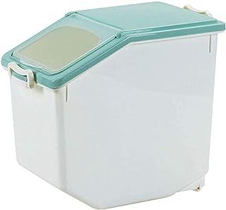 FEGSX Récipient de Stockage hermétique Organisateur de céréales scellées avec Roues Cuisine 15KG / 33LbRice Food Container...