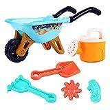 FIRFONMA Strandspielzeug Set Strand Sandspielzeug-Spielset für Kinder Sandkastenspielzeug den Enthält Wasserrad Strandbuggy Eimer Gießkanne Sandburg Baukasten und Formen für Jungen Mädchen