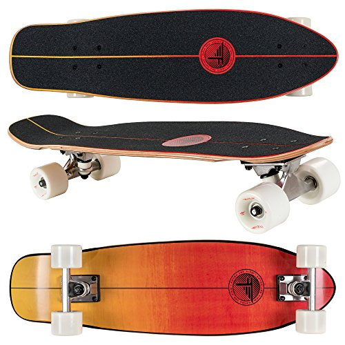 "Flybar Skate Cruiser Boards – 24"" – 27.5 Strong 7 Ply Canadian Maple Complete Skateboards - 60mm PU Wheels High Speed ABEC 9 Bearings"