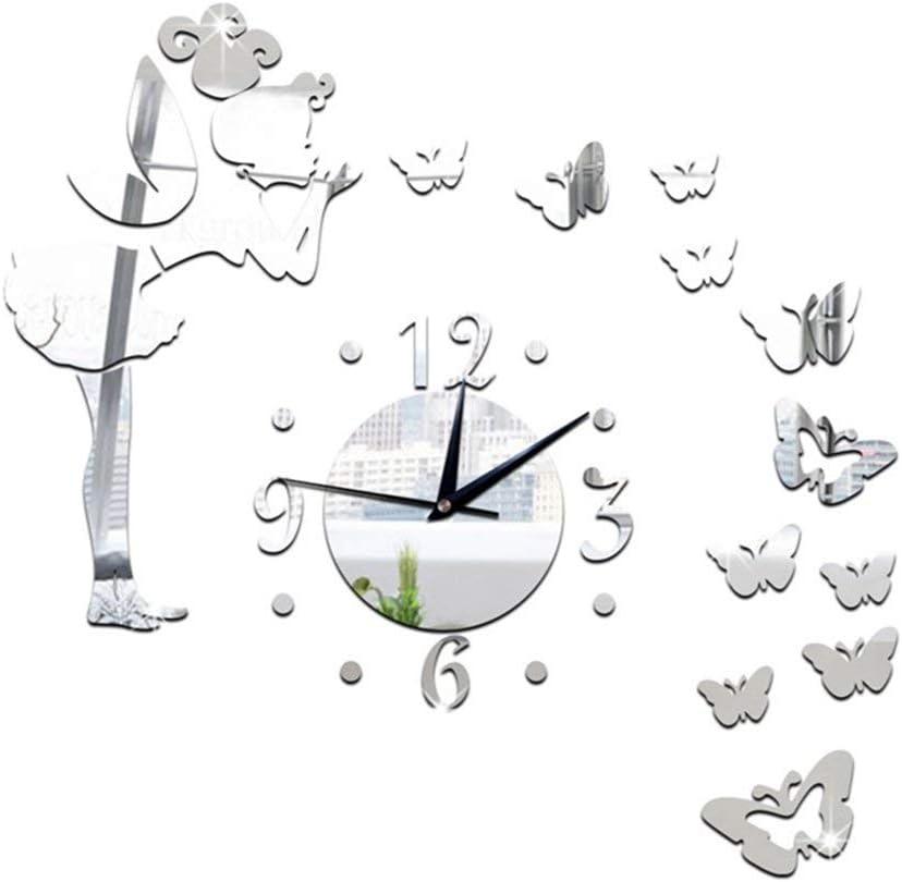 YQSWWD Ranking TOP19 Wall Clocks Clock Angel DIY 5% OFF with Sticker 3D Acr Art
