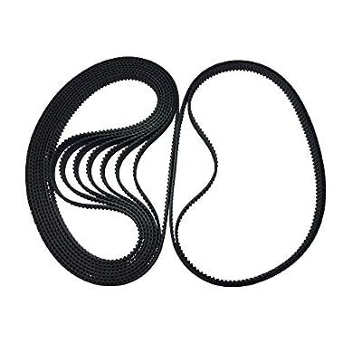 BEMONOC Pack of 10pcs 320-2GT-6 Industrial Timing Belt in Closed Loop 2GT Rubber Belt L=320mm W=6mm 160 Teeth for 3D Printer Parts