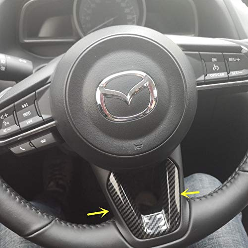 TopDall Bling Crystal Steering Wheel Ring Emblem Decal Decoration Cover Sticker Trim for Mazda