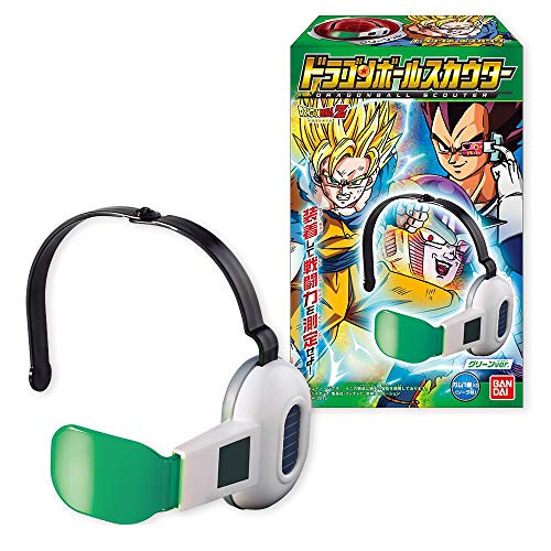 BANDAI Givingfun Dragon Ball Z Cosplay Warrior Adjustable Green Lens Scouter Toy w/1 Candy by