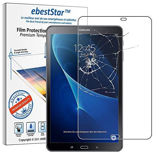 "ebestStar - Cristal Templado Compatible con Samsung Galaxy Tab A6 A 10.1 (2018, 2016) T580 T585 Protector Pantalla, Película Vidrio Dureza 9H, Sin-Burbujas [Aparato:254.2x155.3x8.2mm 10.1""]"