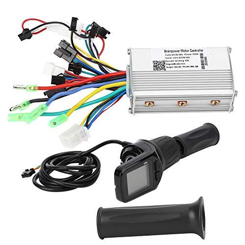 Deror Juego de Controlador de Bicicleta eléctrica, medidor Dividido LCD de Controlador de Scooter eléctrico de Bicicleta eléctrica Universal de 36/48V 250/350W