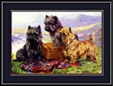 ABLERTRADE English Picture Cairn Terrier Trio Puppy Dog