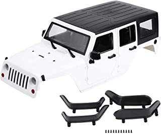 RC Car Body Shell, Remote Control Model Vehicle Body Shell for Axial SCX10 Jeep Wrangler RC Crawler Car( White)