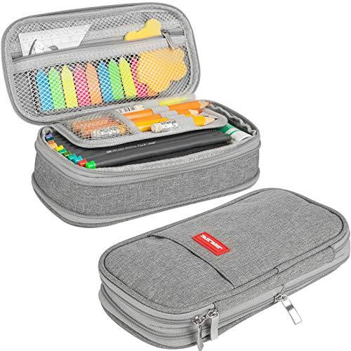 JARLINK 2-Pack Pencil Pen Case Big Capacity, Foldable Multipurpose Storage Pencil Pouch for School...