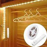 OriFiil 45LED 150cm Tiras LED, Luz Armario Luces LED Nocturna con Sensor de Movimiento para Pasillo Baño Cocina Escalera...